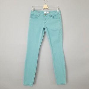 Cabi Skinny Ankle Jeans Tiffany Blue Stretch Sz 4